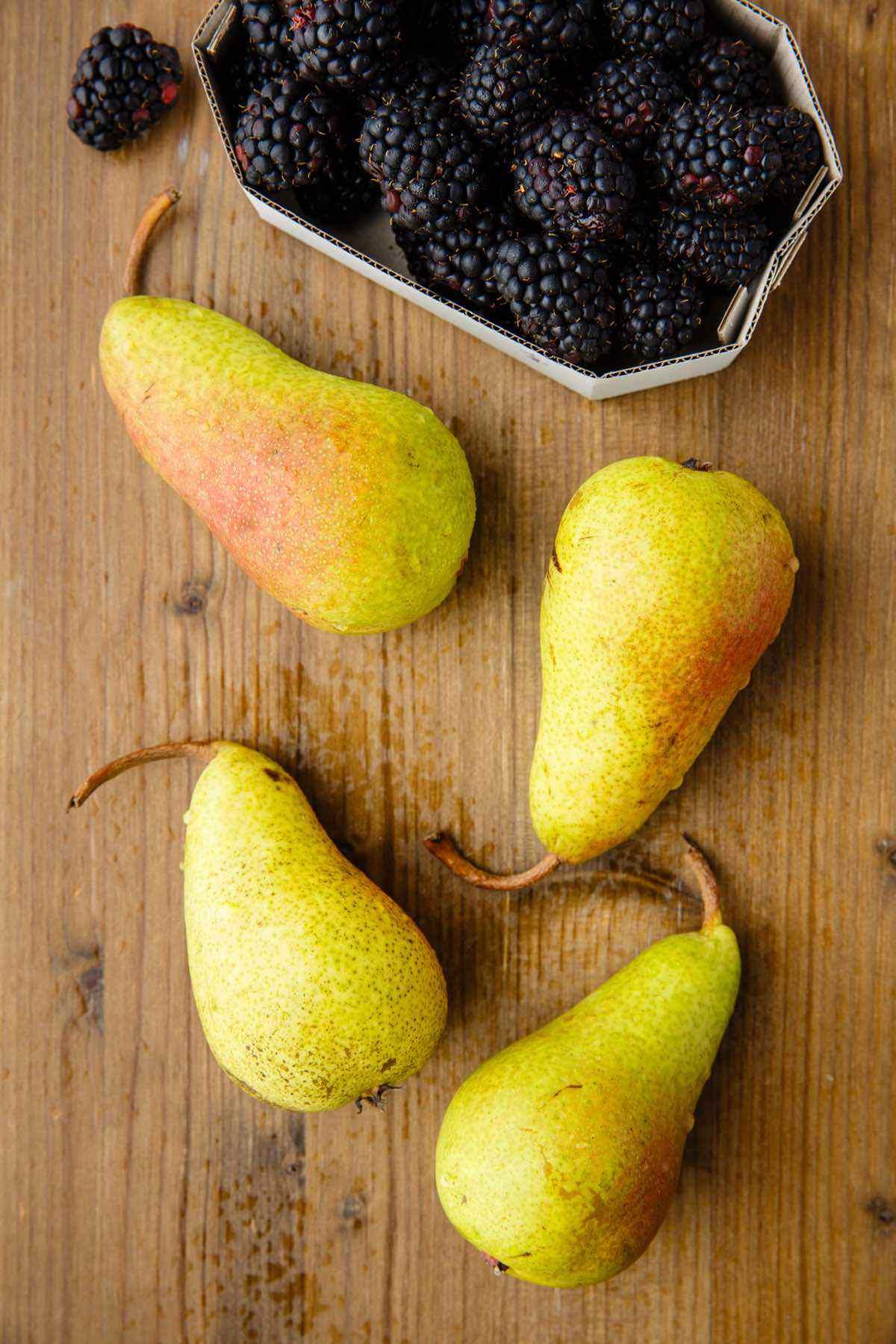 pears blackberries