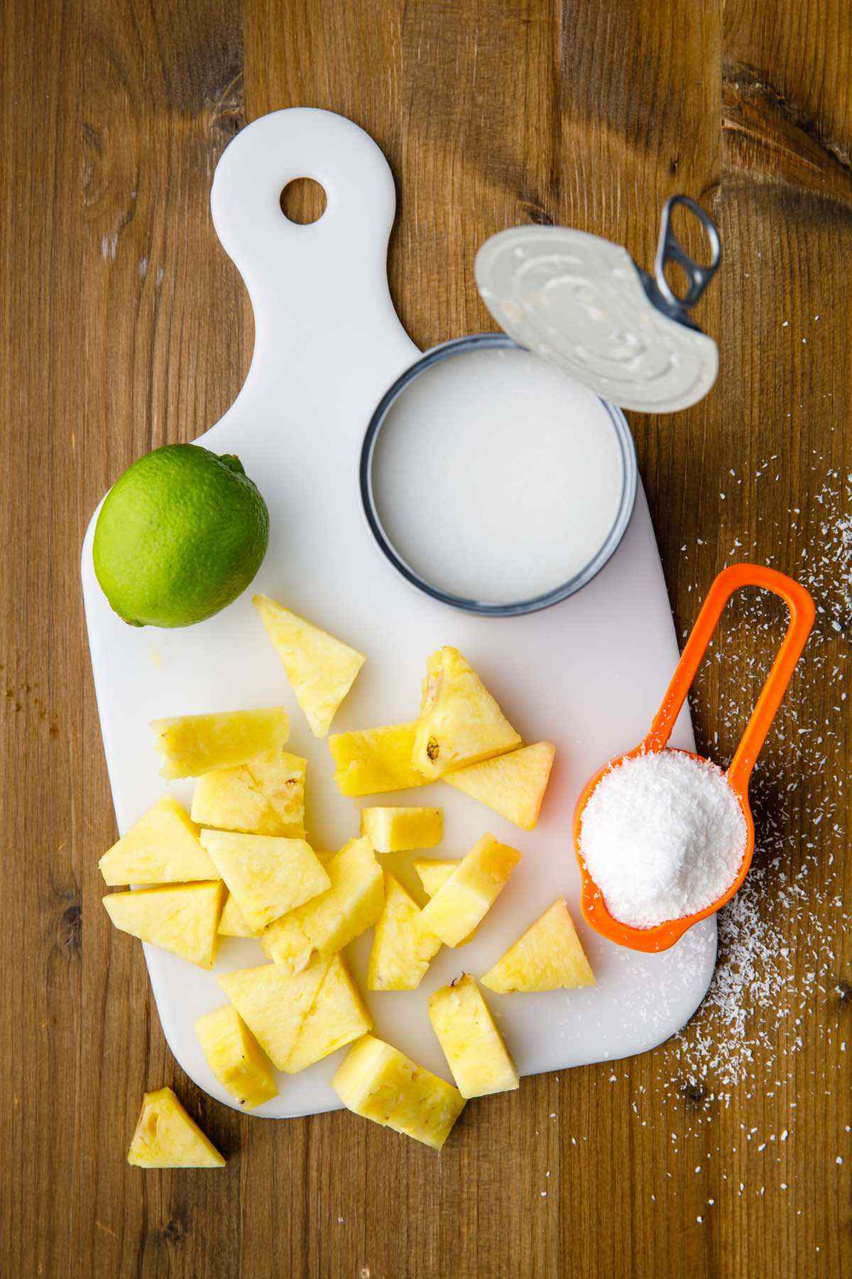 prepping smoothie ingredients