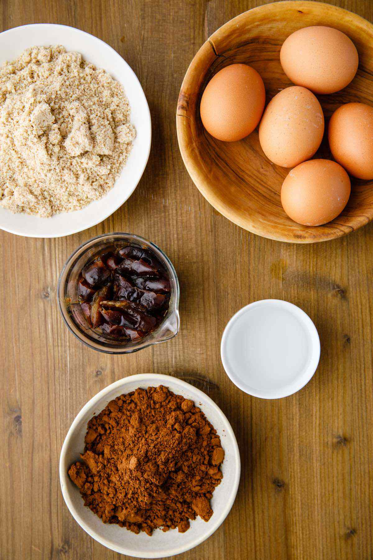prepping ingredients for cake