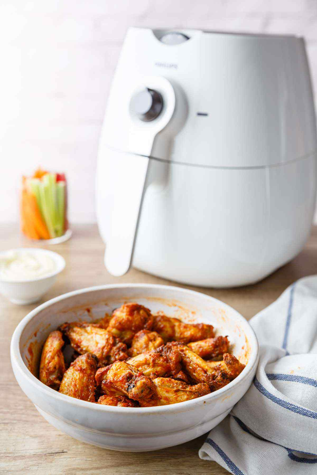 air fried wings recipe