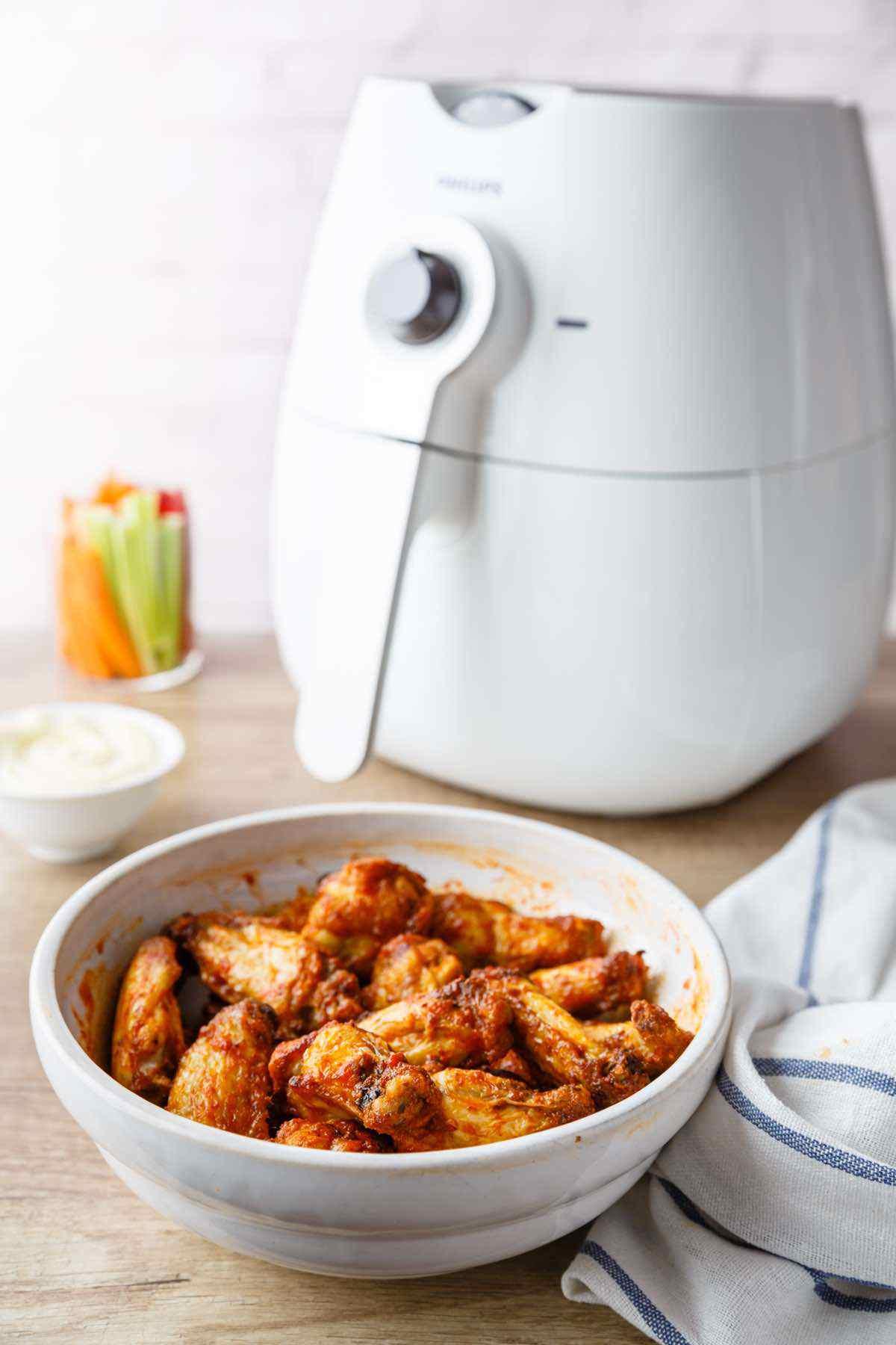 air fried wings recipe