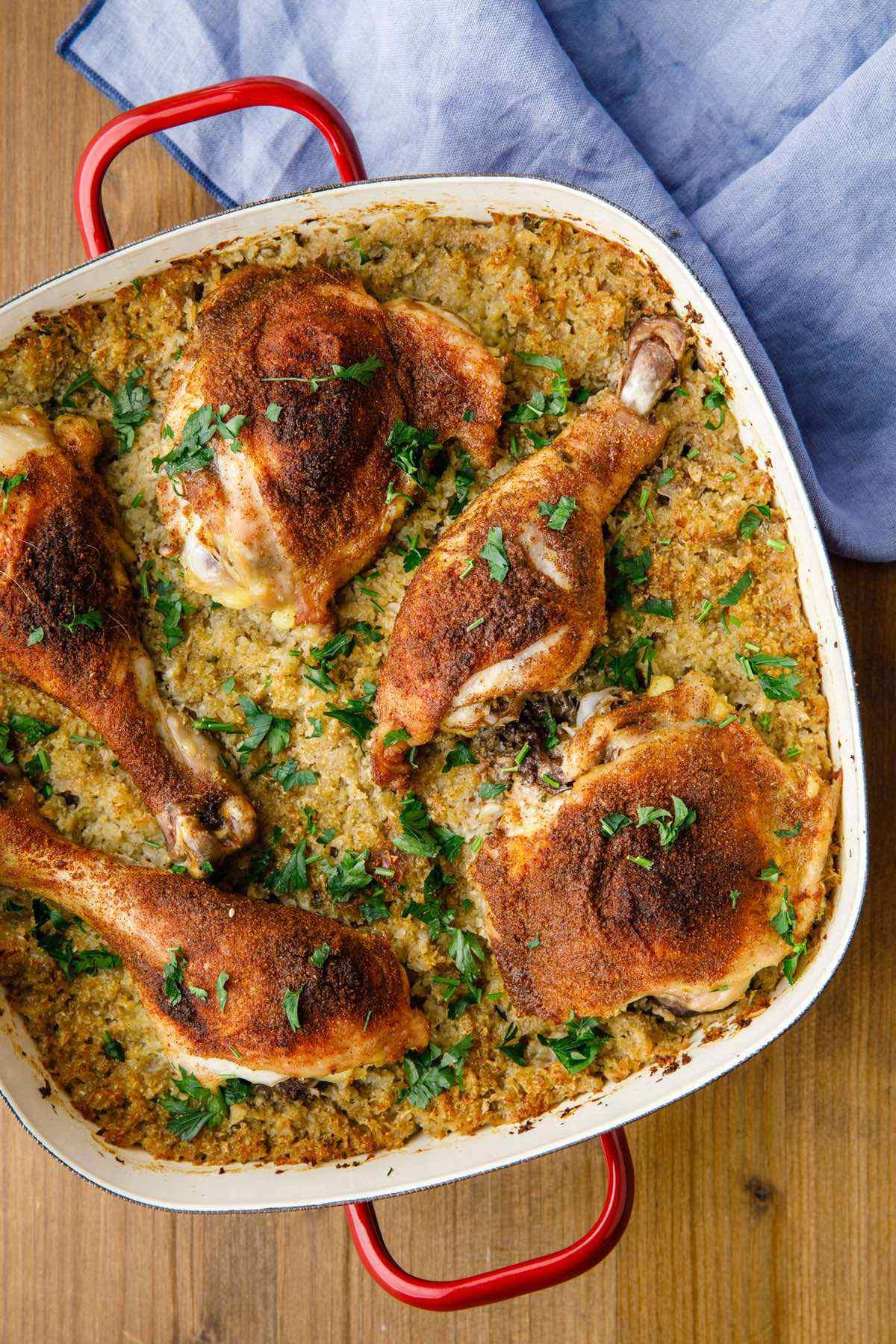 grilled chicken pilaf