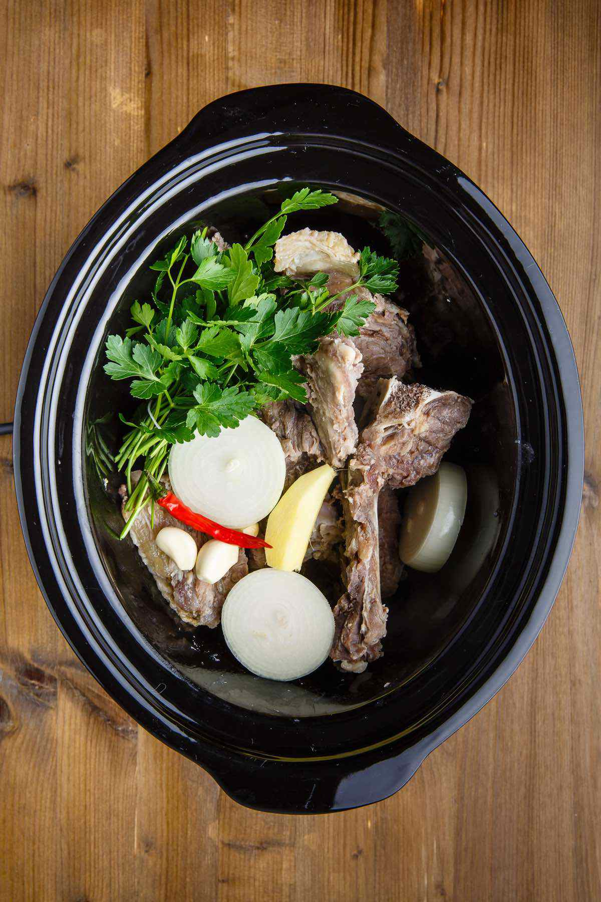 slow cooked bone broth