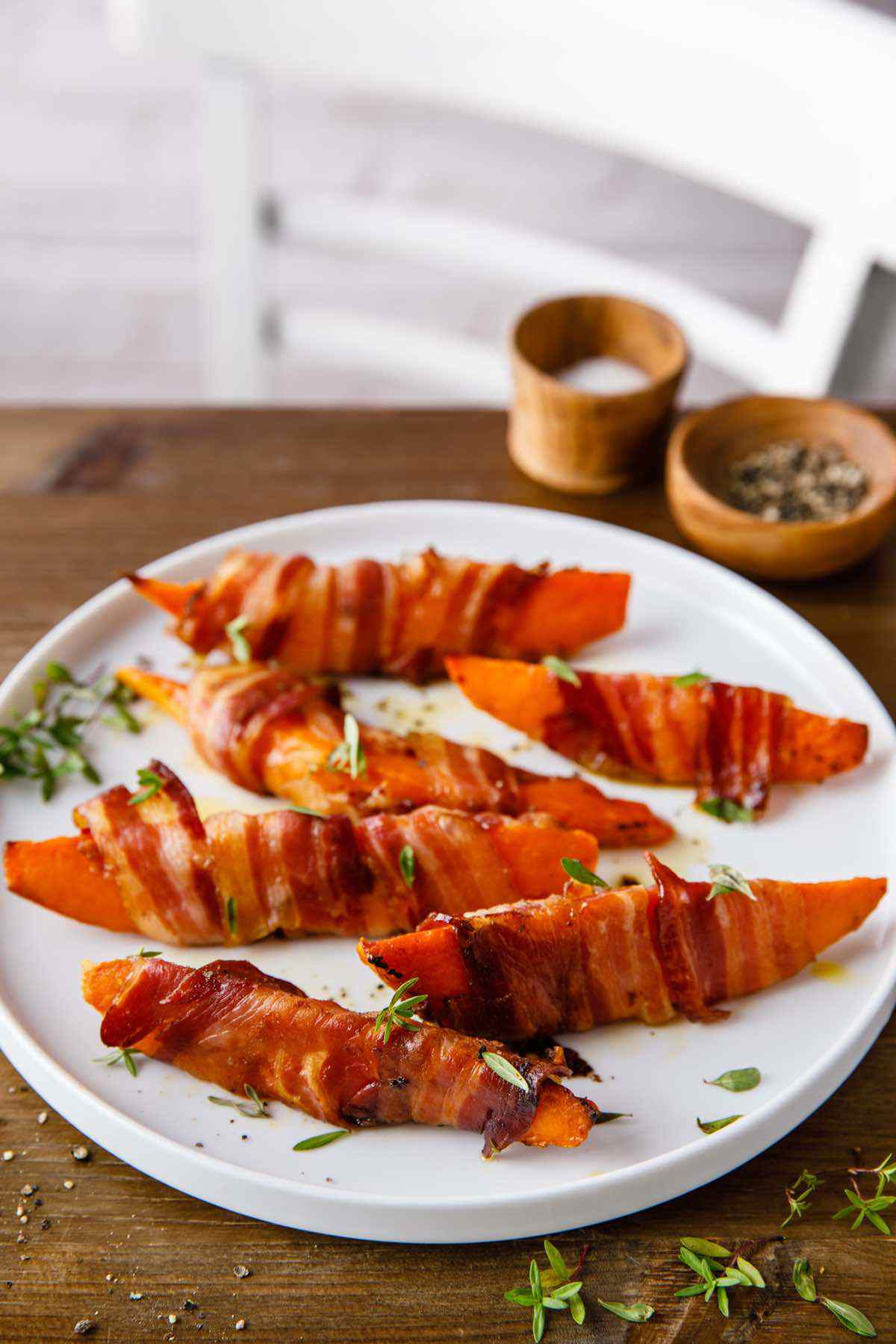 paleo bacon wrapped sweet potato wedges