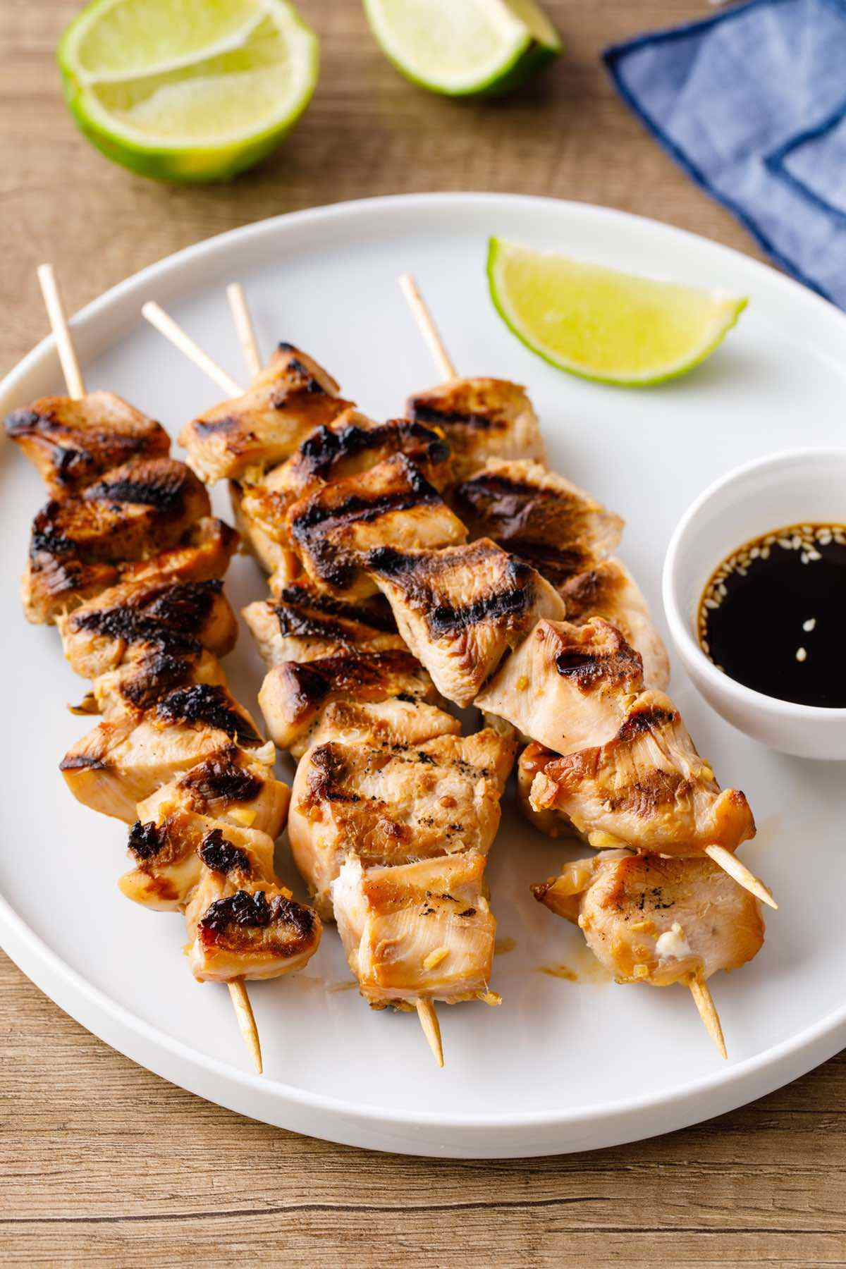 paleo chicken teriyaki skewers recipe