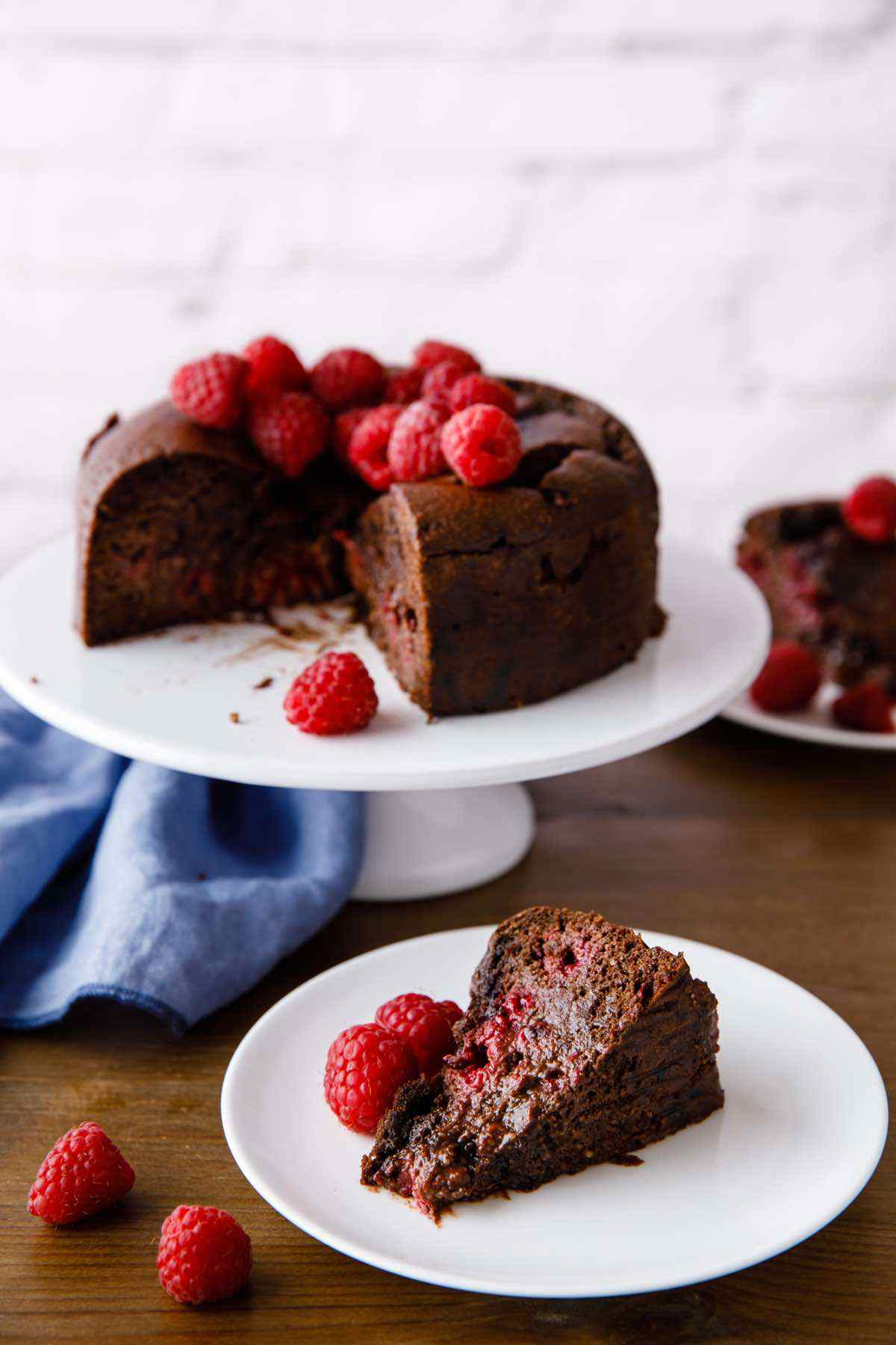 paleo chocolate raspberry cake