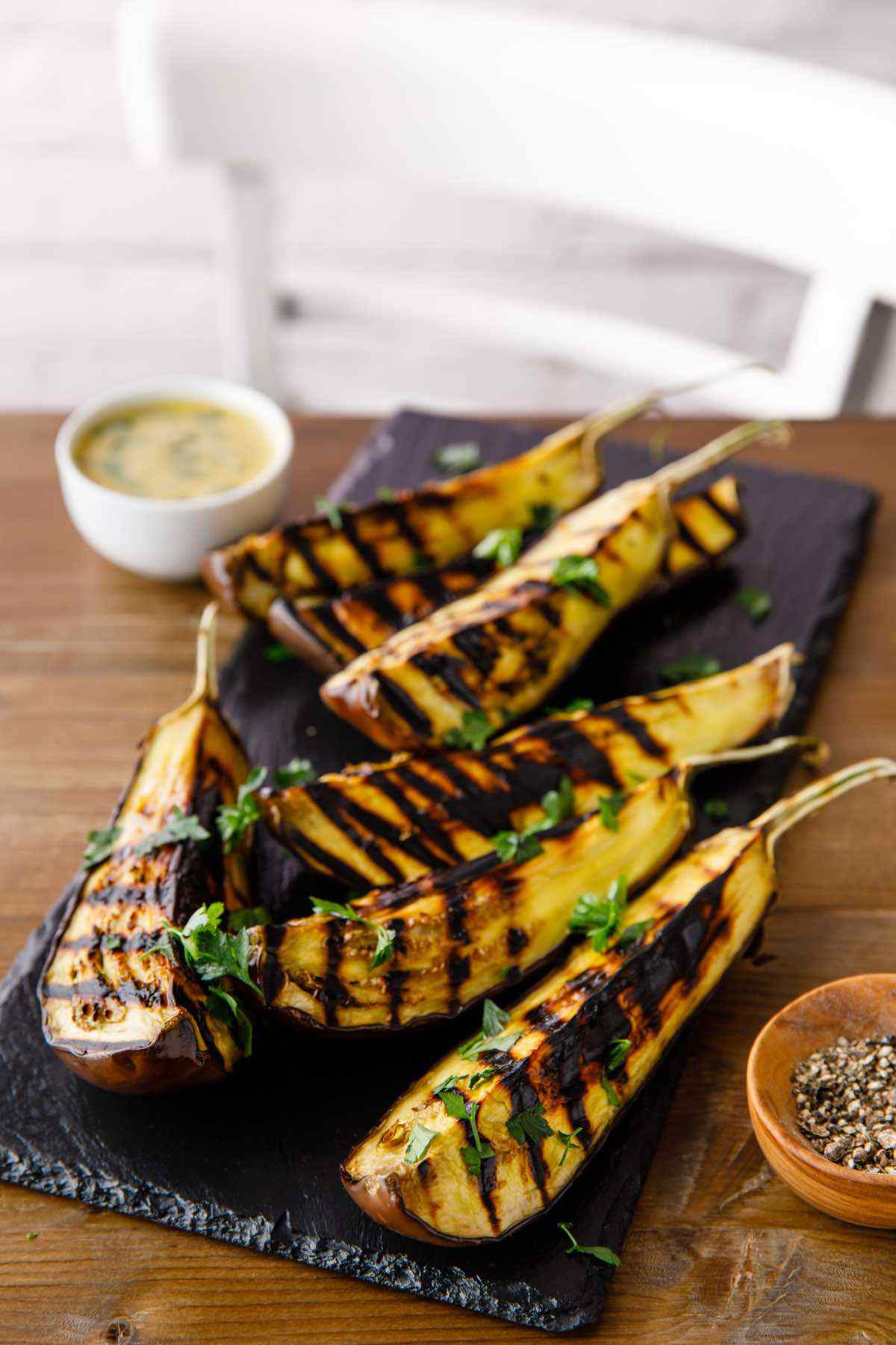 paleo grilled eggplant tahini dressing recipe