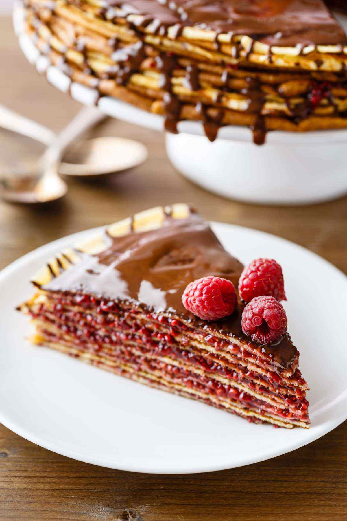 paleo raspberry crepe cake recipe