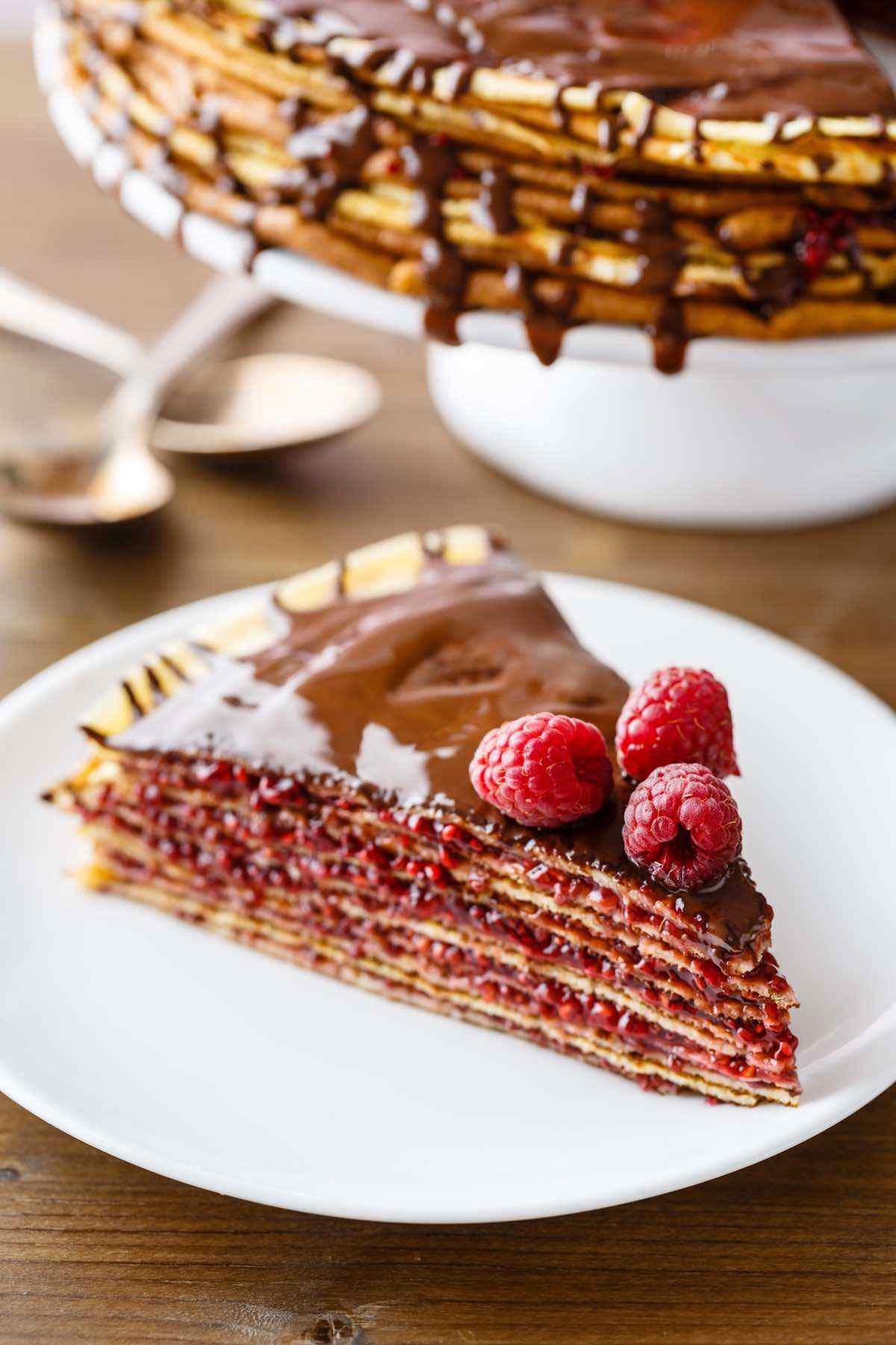 paleo raspberry crepe cake recipe