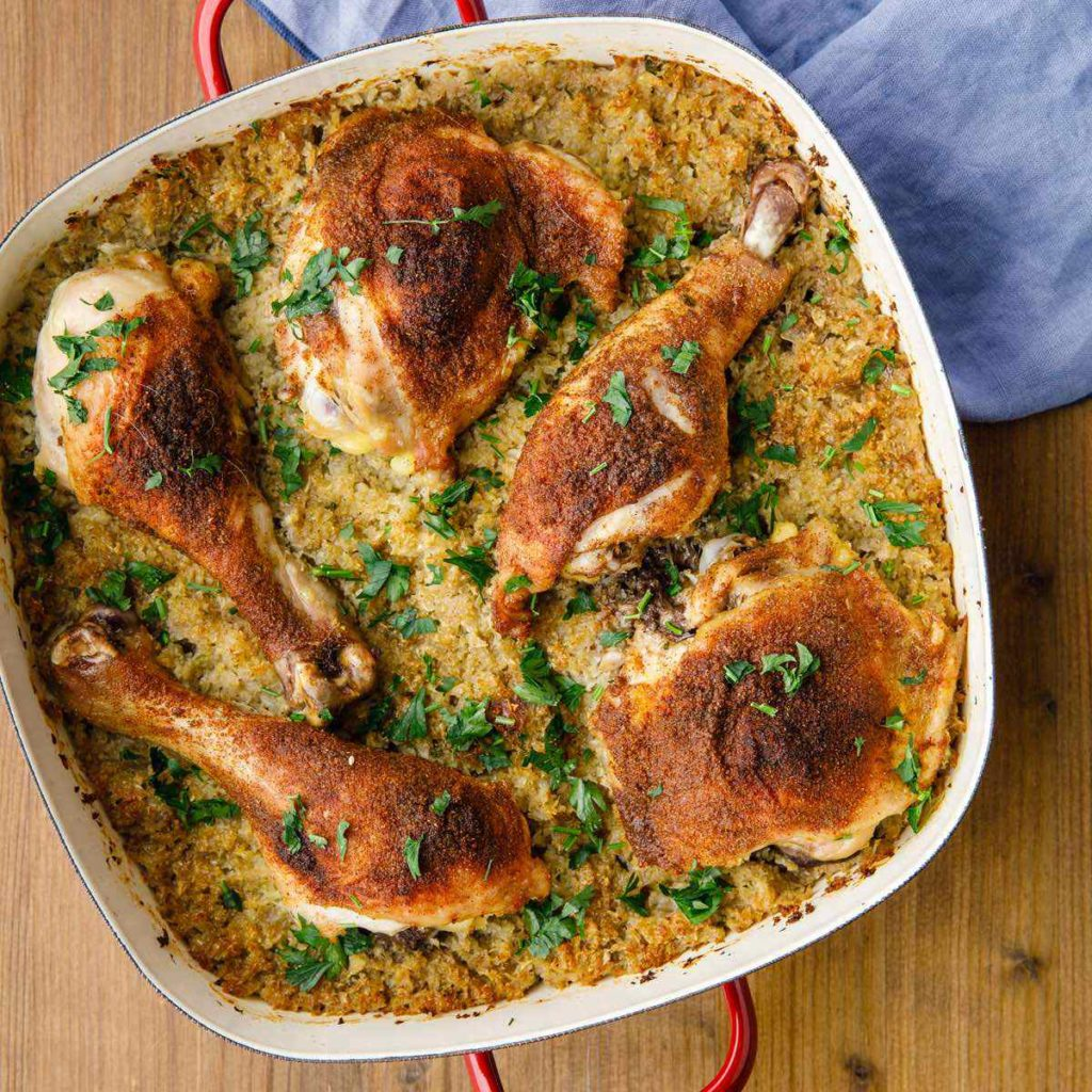 chicken pilaf dish