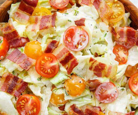 BLT Salad with Homemade Creamy Paleo Dressing