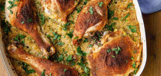 Chicken Pilaf with Cauliflower Rice