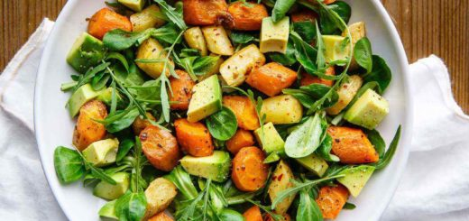 the best roasted carrot and avocado salad ever