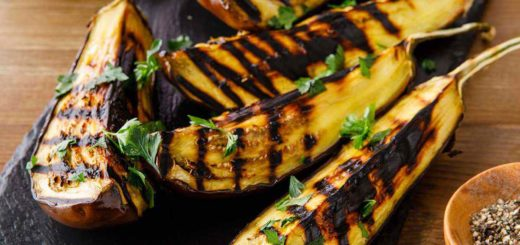 Grilled Eggplant with Tahini Dressing