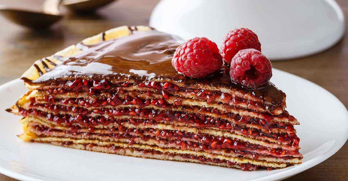 Layered Raspberry Crepe Cake (This Is Delish!)