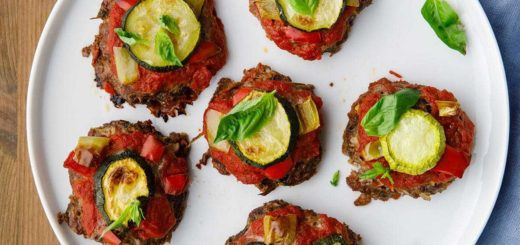 Low Carb Mini Beef Paleo Pizzas