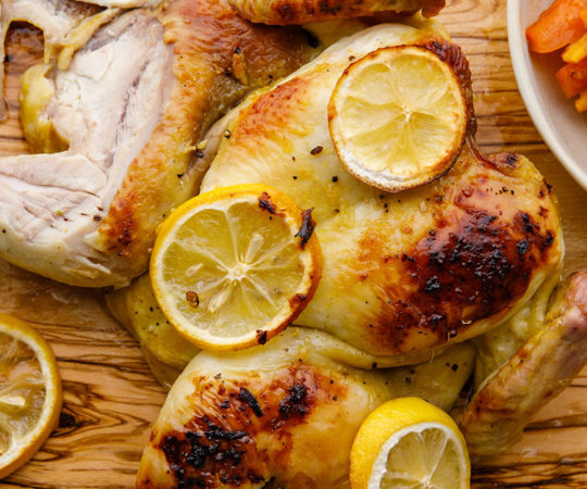 Oven Roasted Honey Lemon Chicken