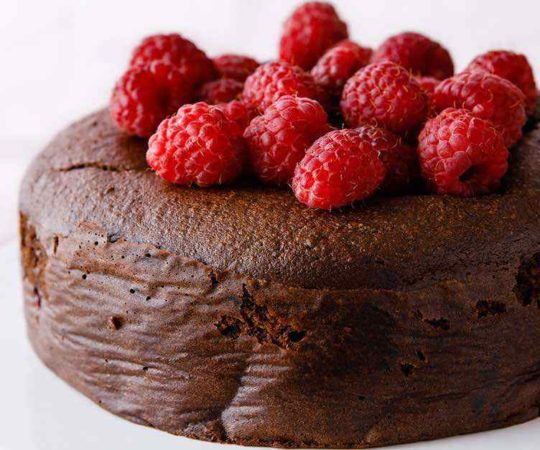 Paleo Chocolate Raspberry Cake