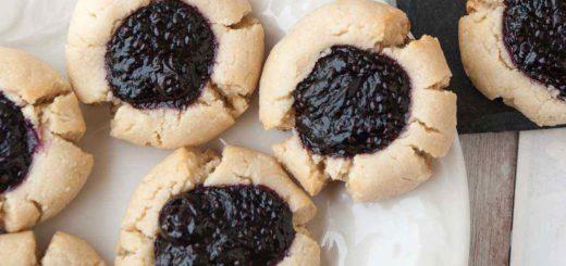 Paleo Thumbprint Cookies with Homemade Chia Jam