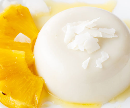 Pineapple Coconut Panna Cotta