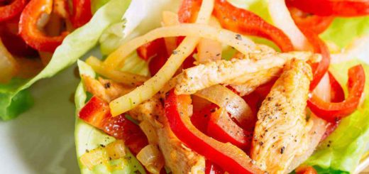 Spicy Homemade Paleo Chicken Fajitas