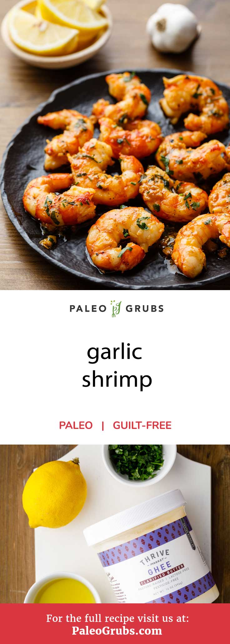 Shrimp are one of the best sources of seafood to include in your paleo diet as they are an excellent protein source while containing tons of other nutrients. Garlic is equally good for paleo followers thanks to the many, many health boosting properties that it possesses. This recipe takes these two great ingredients and makes delicious garlic shrimp that seafood and paleo lovers will go nuts for.