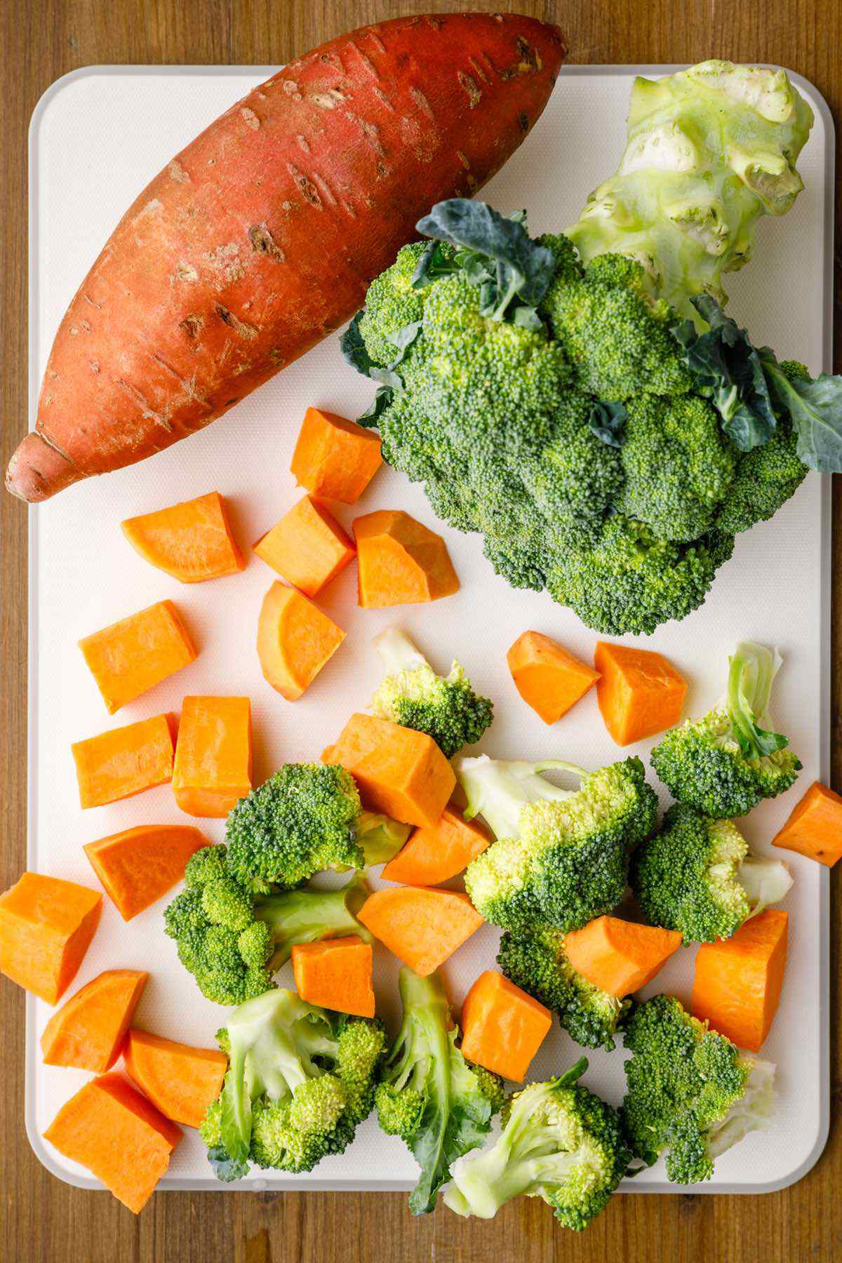 broccoli sweet potatoes