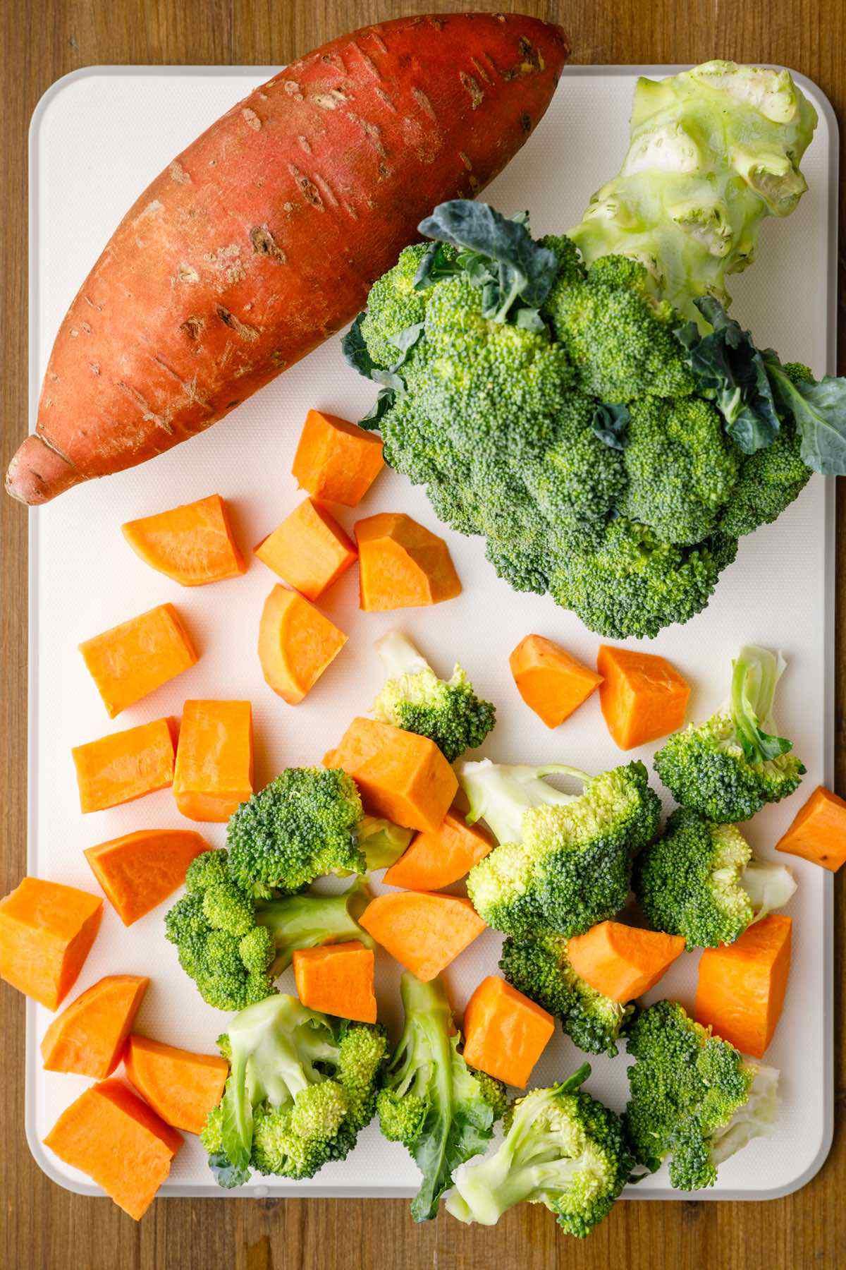 broccoli sweet potatoes
