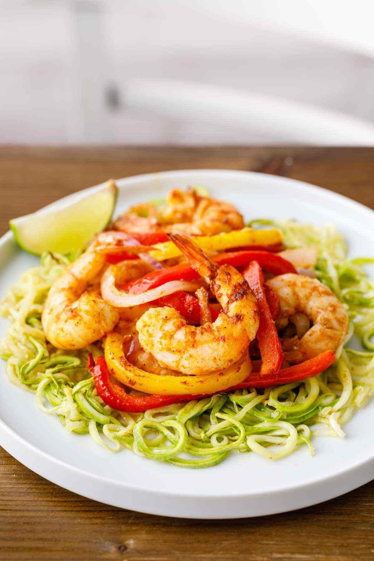 paleo sheet pan shrimp and zucchini noodles