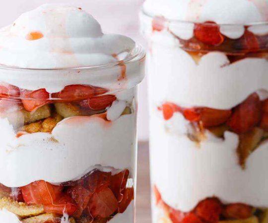 Strawberry Shortcake in a Jar