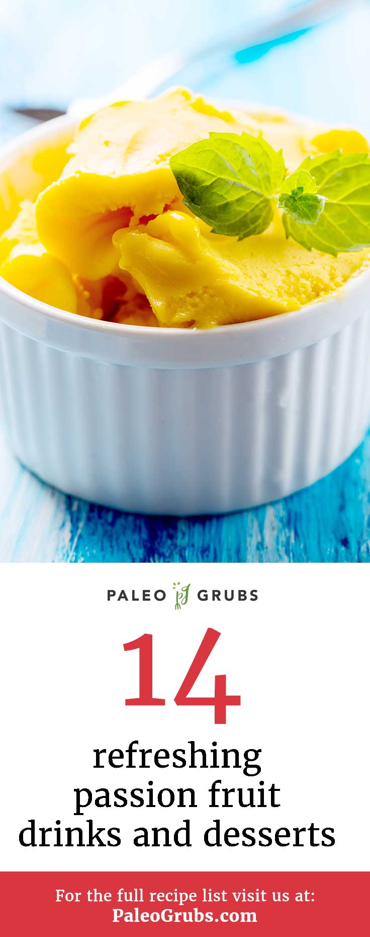 I had to find passion fruit in my local area, but once I did these passion fruit recipes provide plenty of ways to prepare it and add it to meals.  Passion fruit adds tropical and exotic flavors to smoothies, dressings, puddings, and cakes. Got your hands on some of these beauties? Try some of these paleo passion fruit recipes!