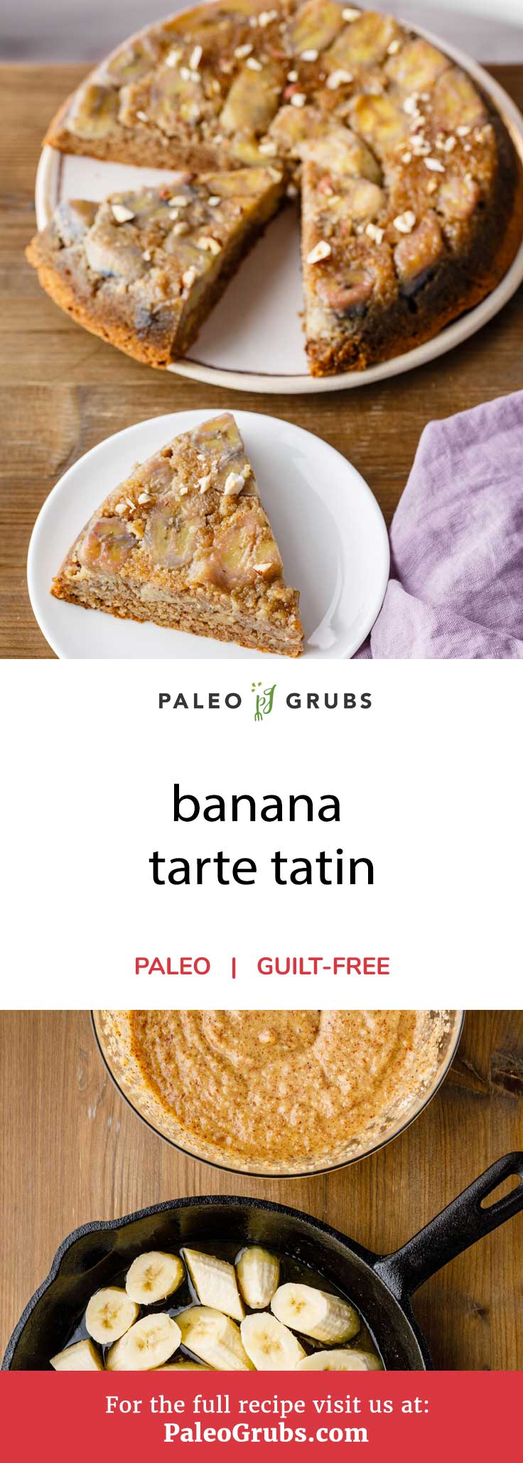 Looking for a simple to make dessert recipe that will tantalize your taste buds? Something that's deliciously sweet and sticky while still remaining paleo-friendly and healthy? This gluten-free banana tarte tatin recipe is exactly what you're looking for then. Featuring a homemade dough and filling, it's incredibly easy to prepare and takes no time to cook at all.