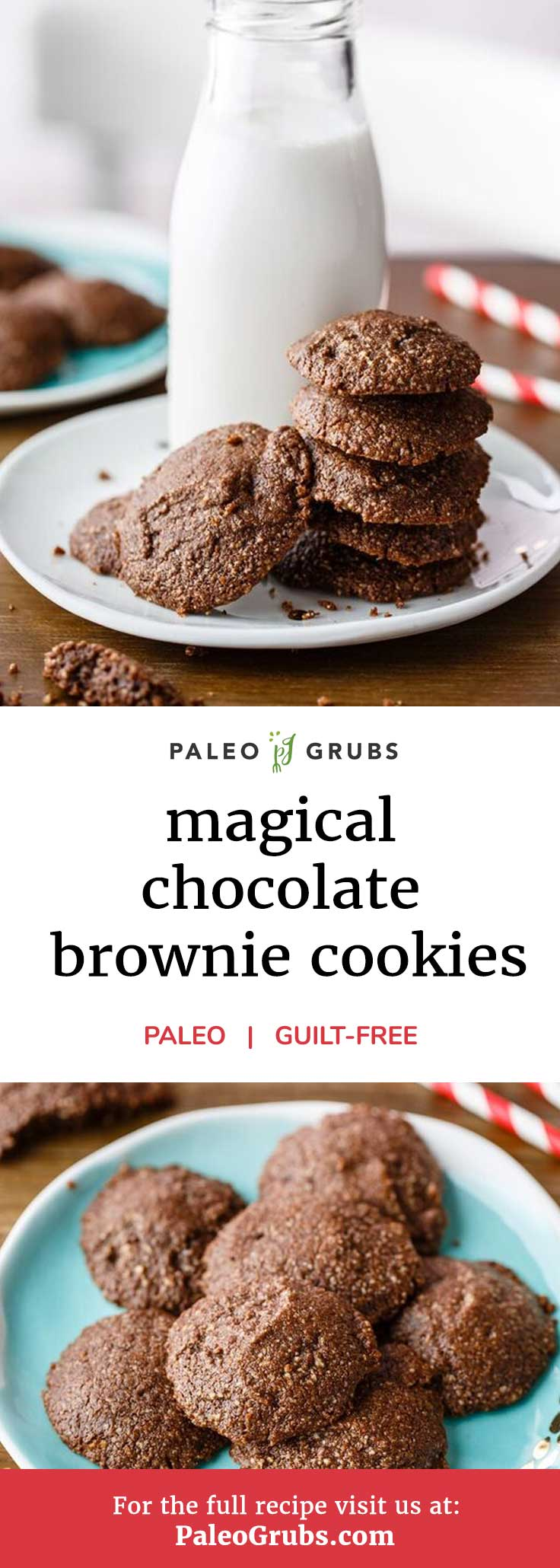 If chocolate brownies are your weakness, then you absolutely have to check out this recipe that makes paleo-approved chocolate brownie cookies. It uses cacao powder for the chocolate flavoring which ends up making these brownies delicious AND nutritious without the guilt.