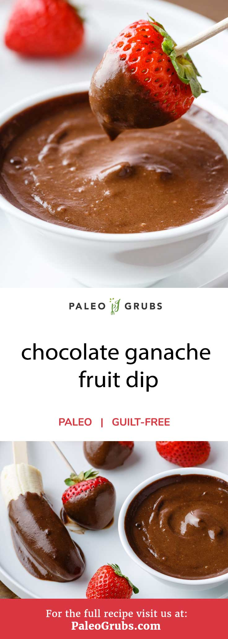 This all-natural chocolate ganache fruit dip is recipe is just to die for. Using only a few simple ingredients and taking only 10 minutes to prepare, you can make your own homemade ganache that is dairy and sugar-free while still being rich, sweet and absolutely perfect for dipping your favorite fruit in.