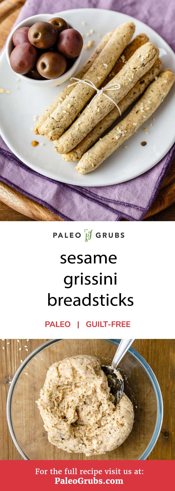 Coming up with delicious dinner appetizers that everybody can enjoy no matter what type of diet they are following doesn't have to be hard. This paleo style sesame grissini recipe is easy to make and makes for the perfect appetizer to include with your meals.