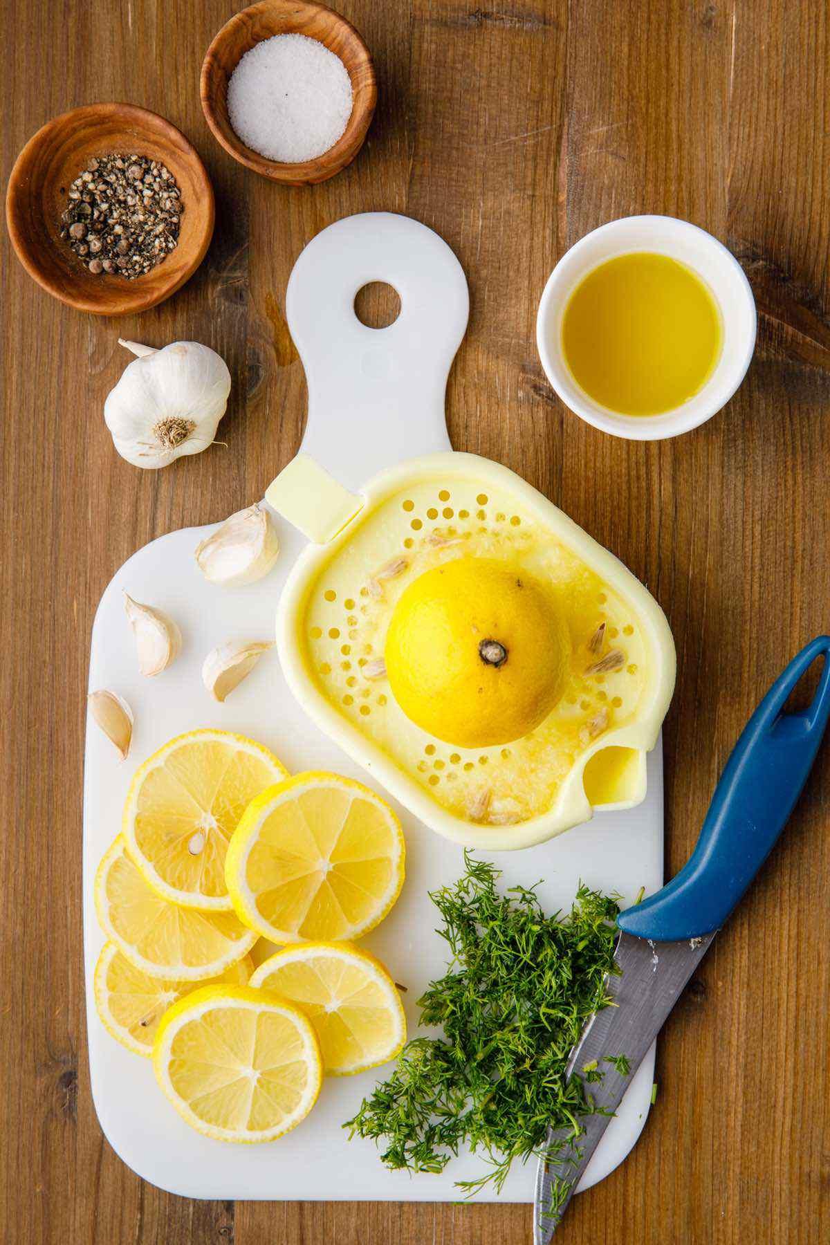 preparing lemons