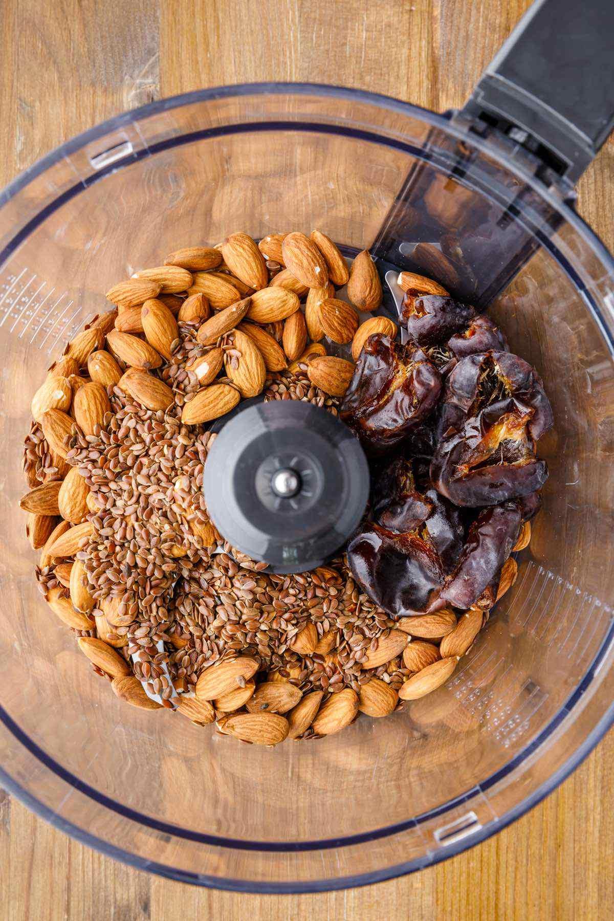 prepping almond caramel bars