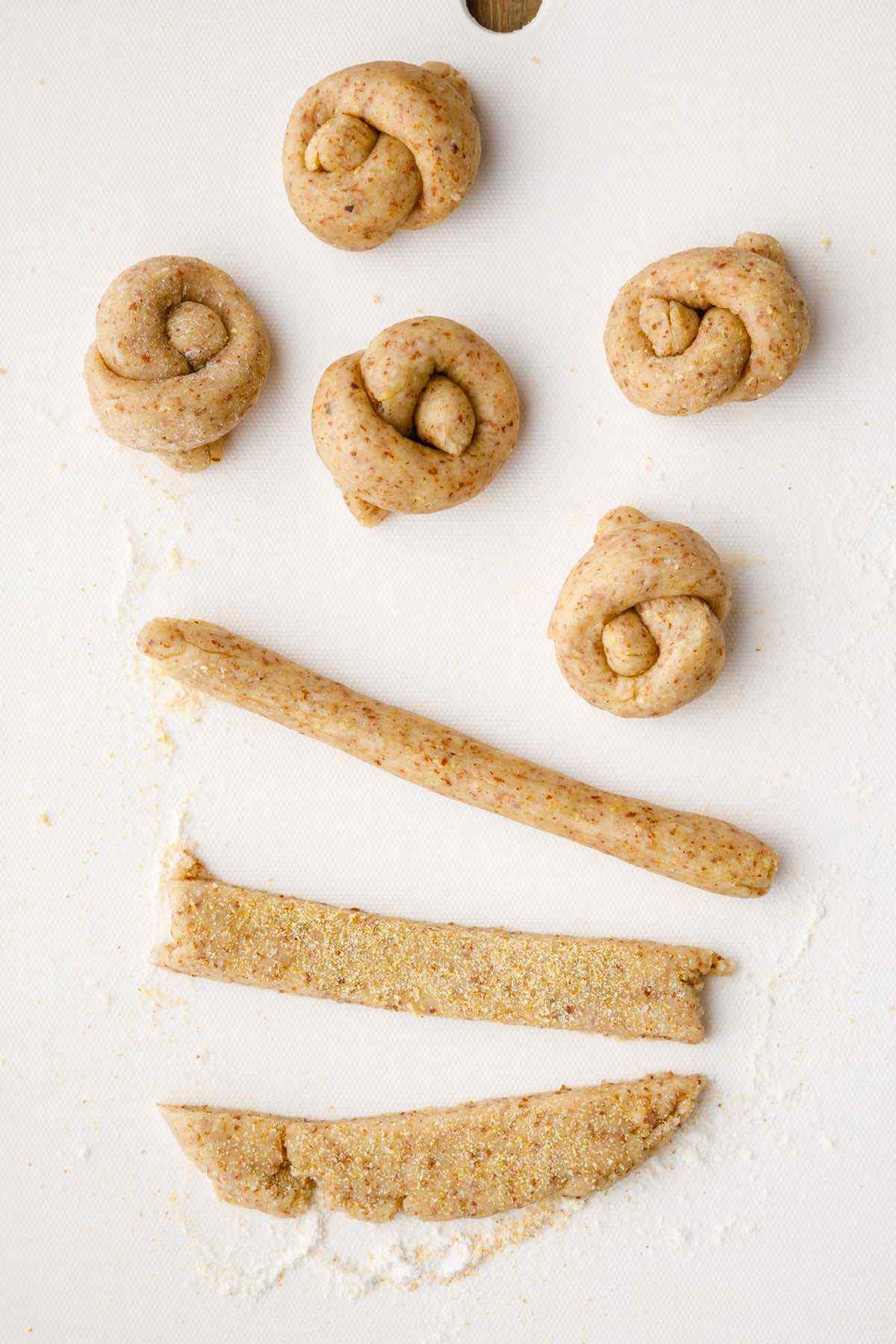 arrowroot flour dough prep
