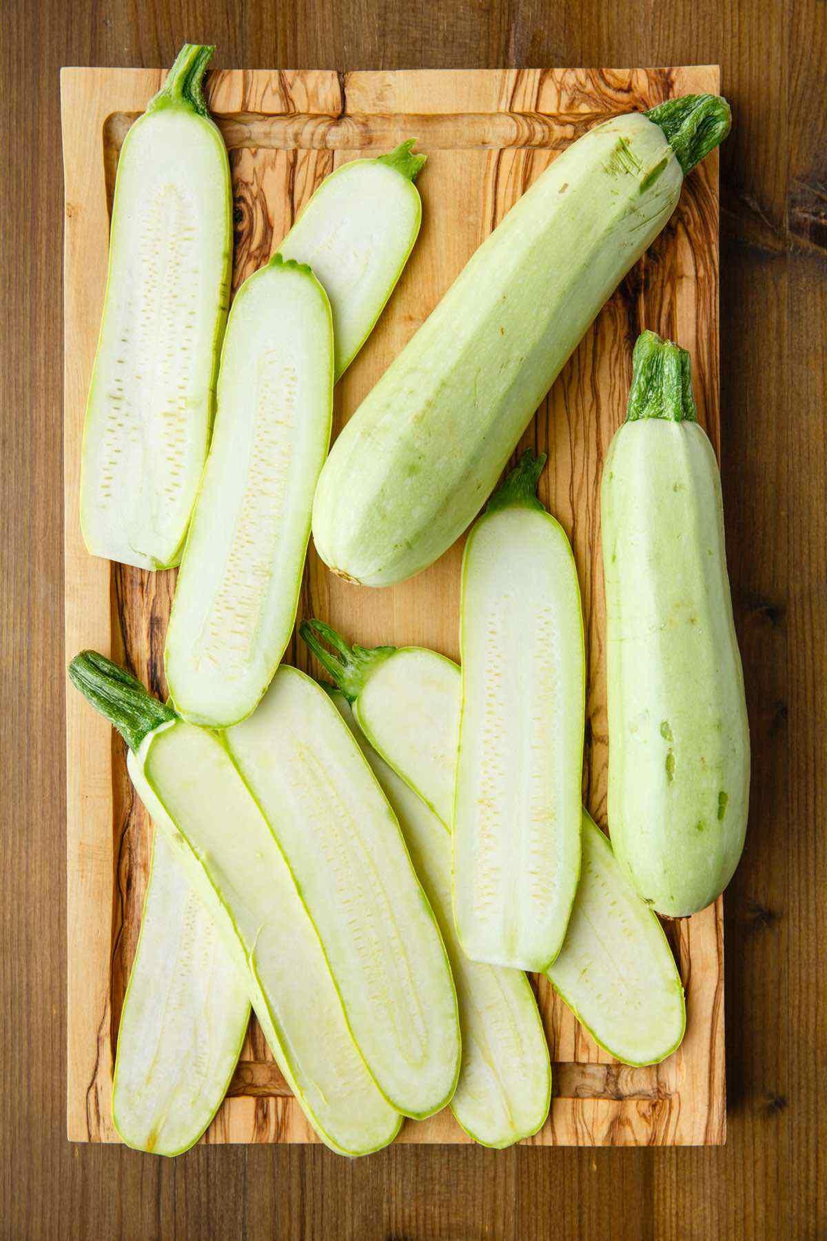 raw zucchini prep