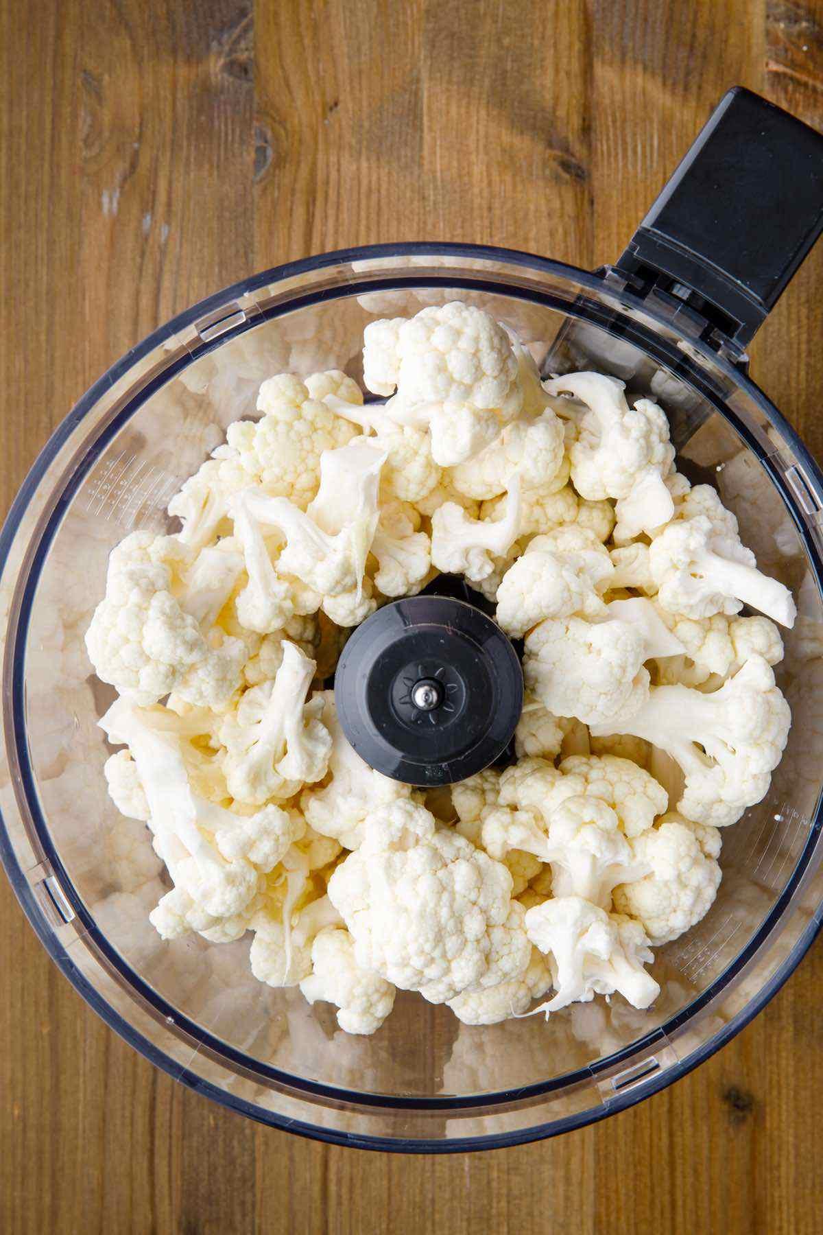 blending cauliflower