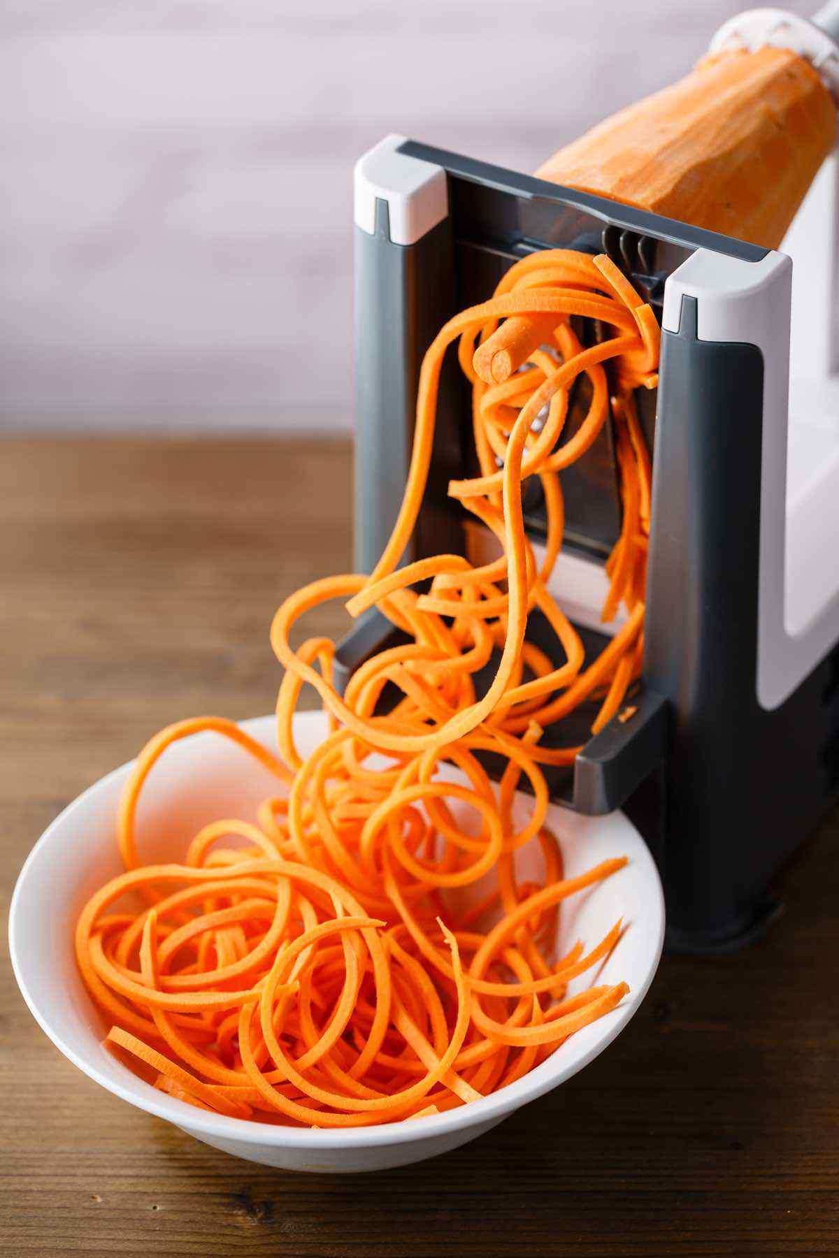 creating sweet potato noodles