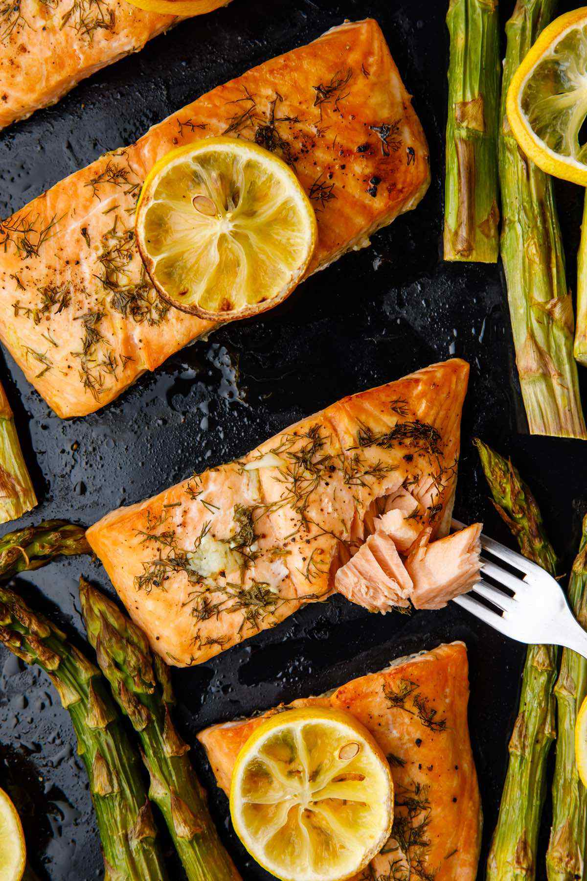 baked salmon dish