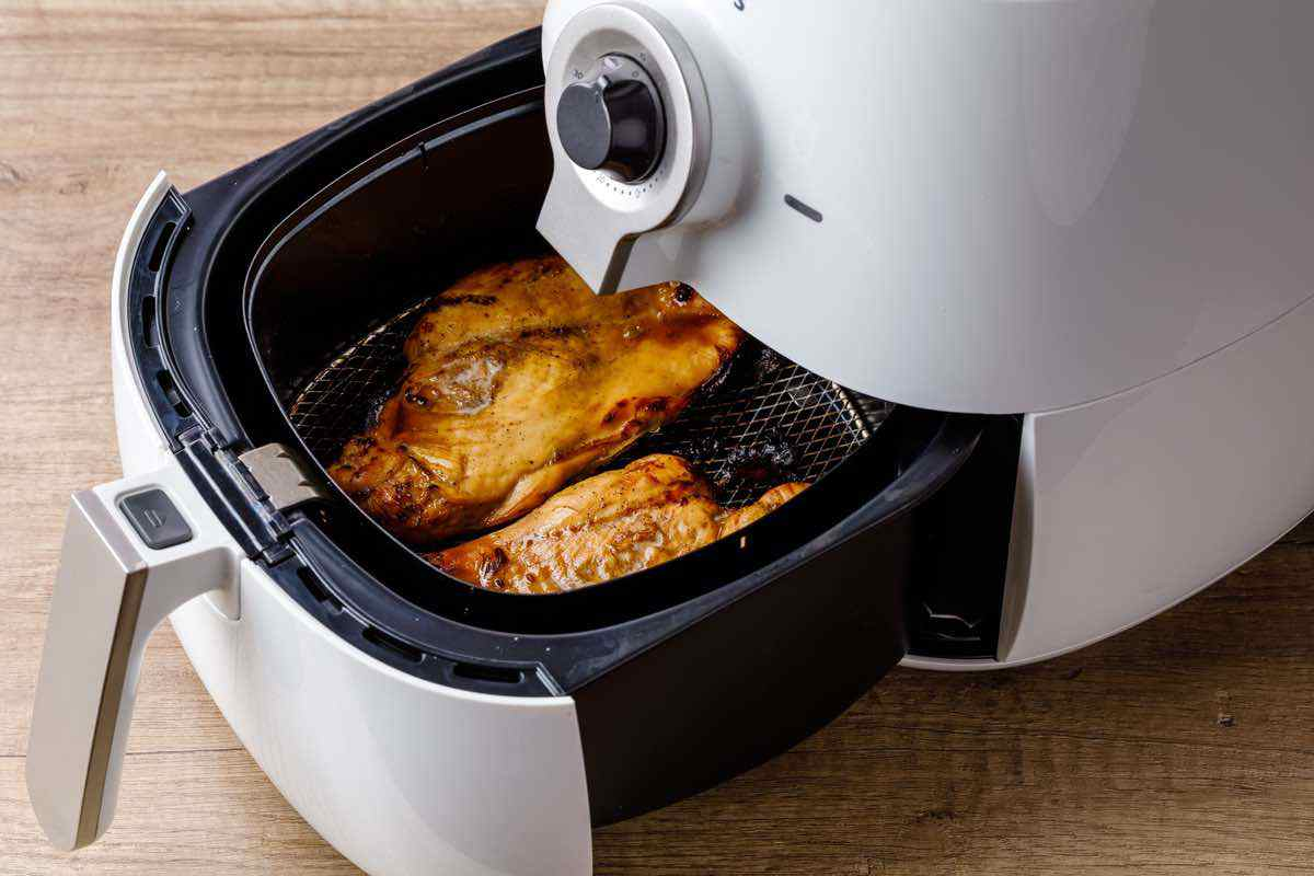 air frying chicken