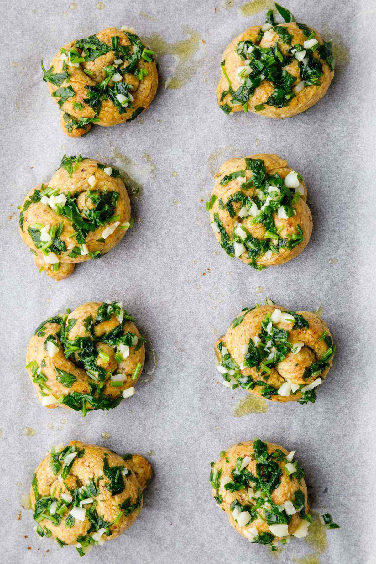 baked garlic knots