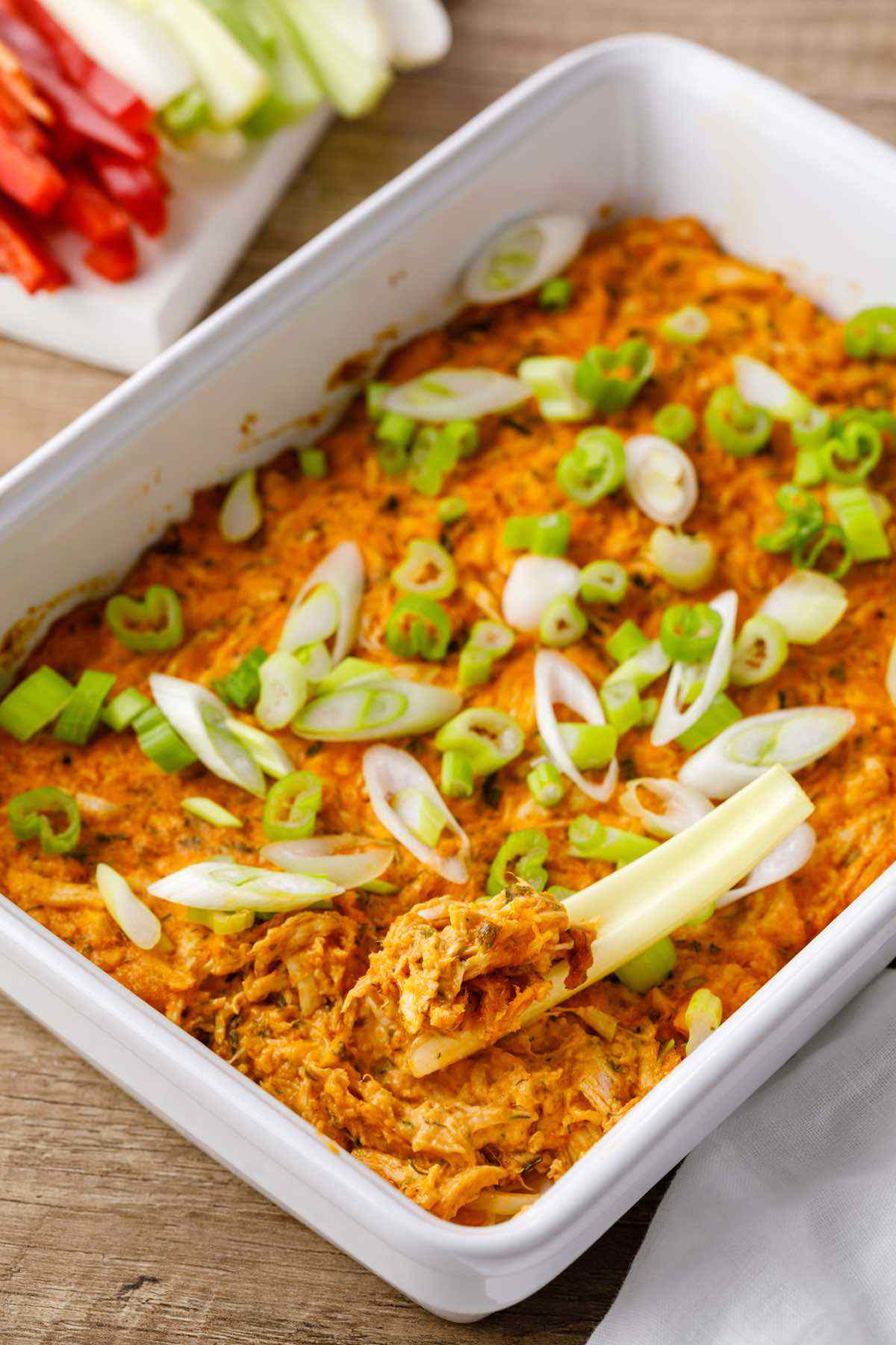 baked shredded chicken dip