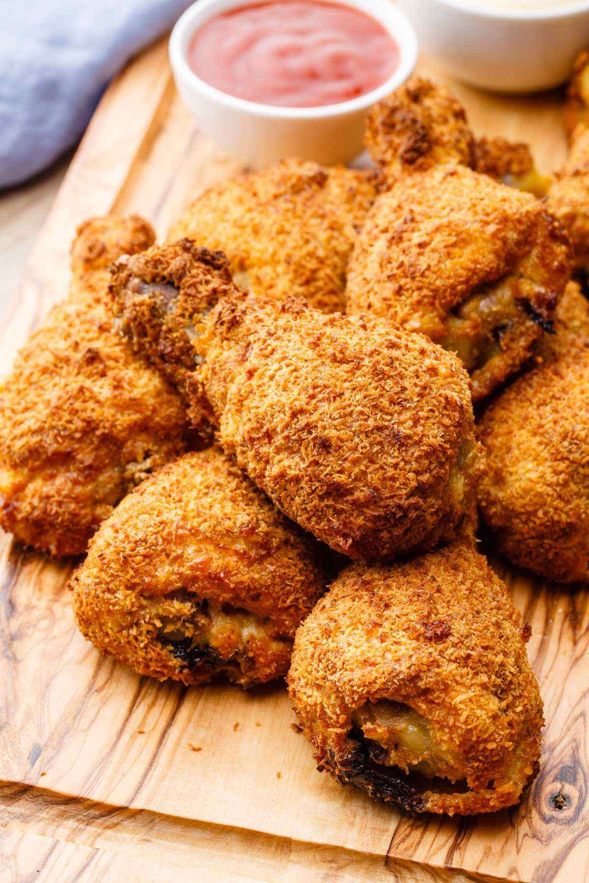 Air Fryer Crispy Chicken The Best Guilt Free Fried Chicken Ever Paleo Grubs