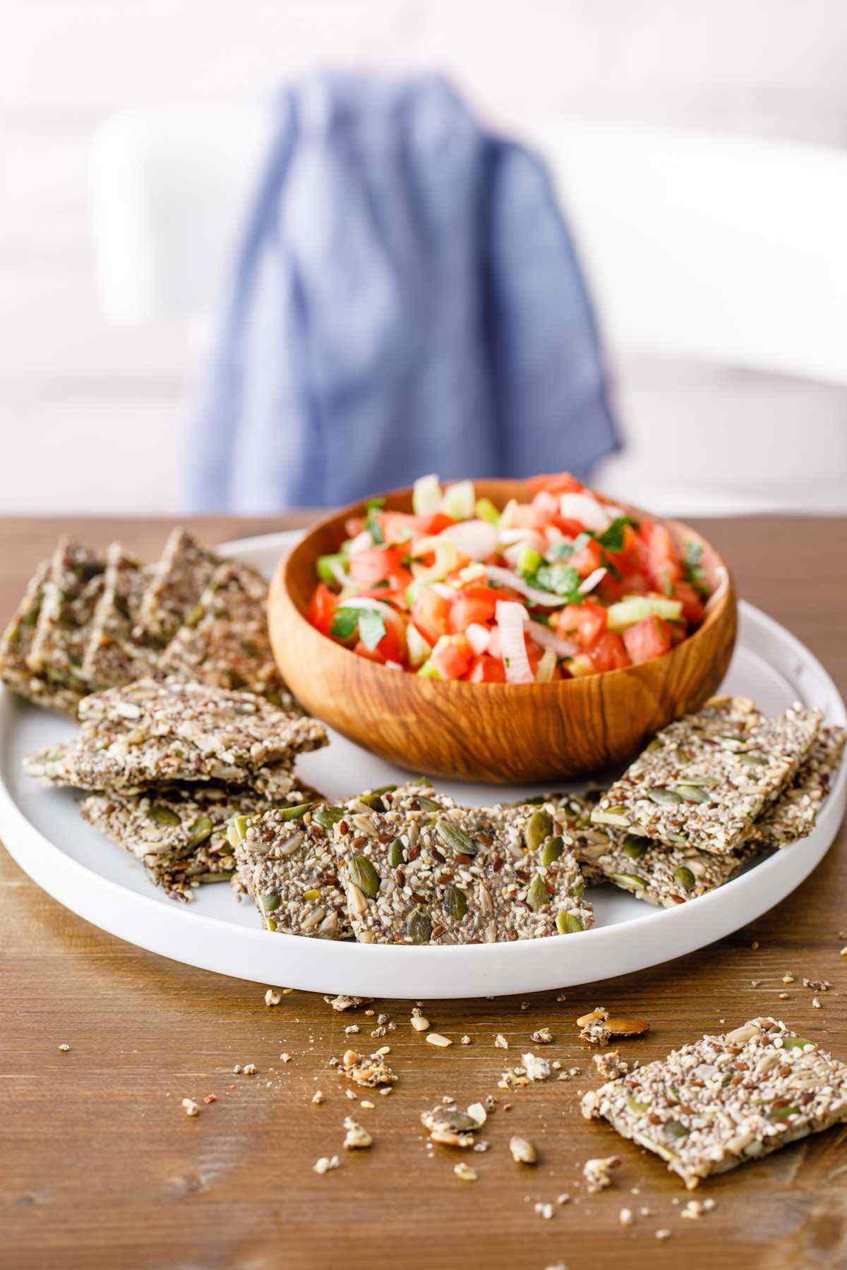 paleo 5 seed crackers recipe