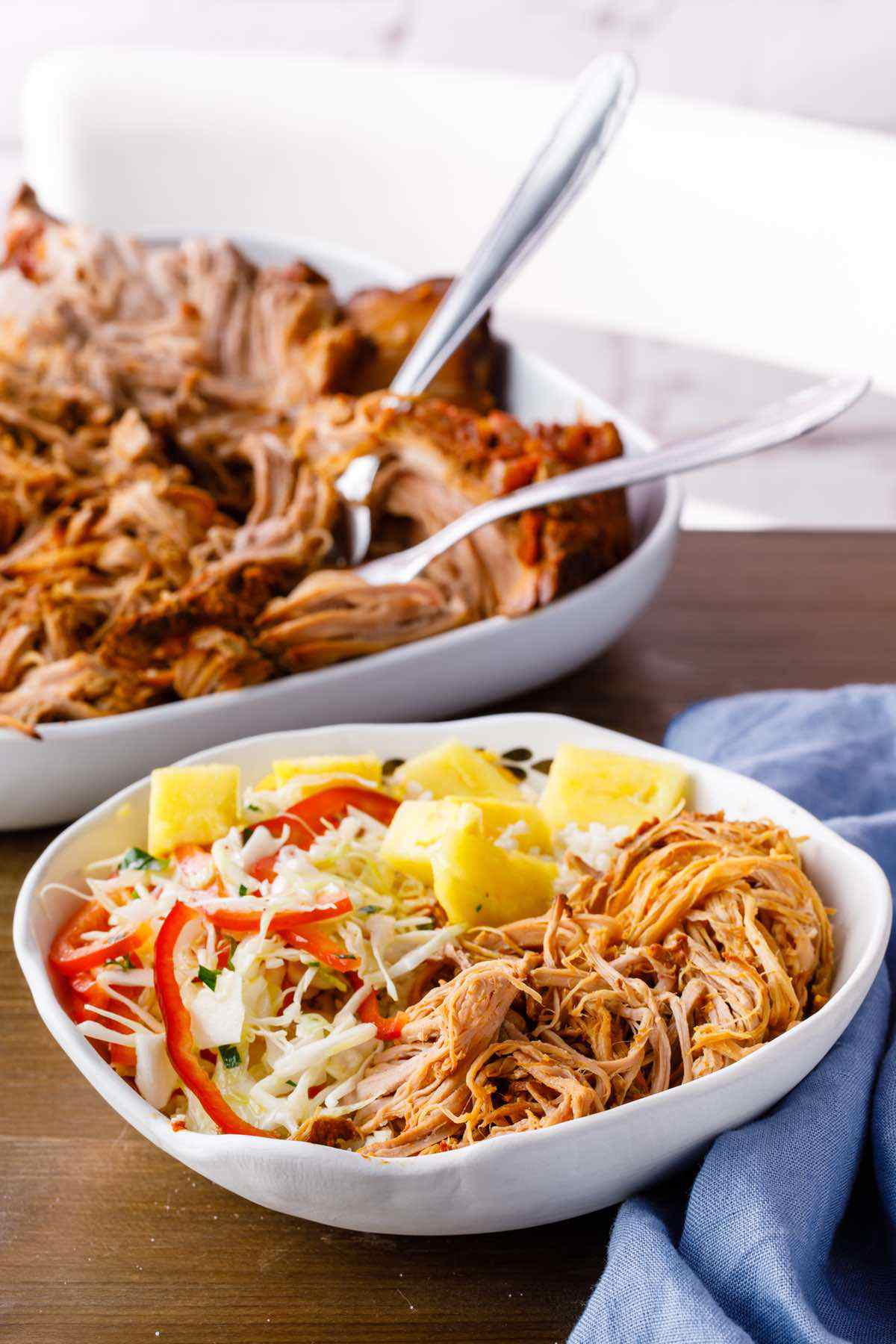 paleo shredded pork burrito bowls