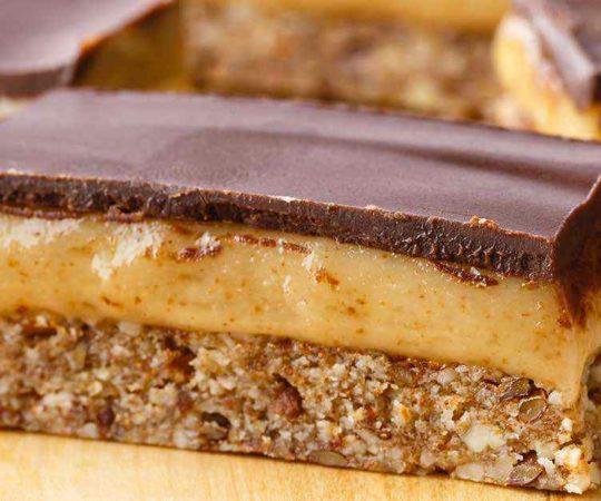 Almond Caramel Bars