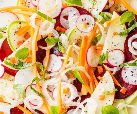 Bright and Fresh Paleo Crudo Salad